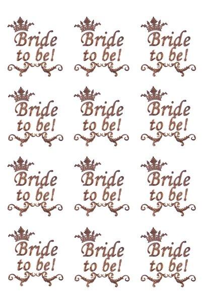 Kullan At Market Altın Bride To Be Kraliçe Taç Dövme 12li