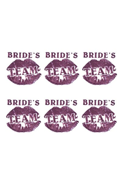 Kullan At Market Bride S Team Dudaklı Dövme Rose Gold 6lı