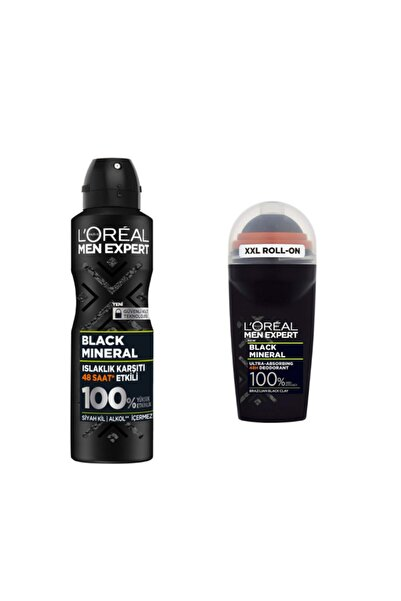 L'Oreal Paris L'oreal Parıs Men Expert Black Mıneral Deodorant Ve Roll On