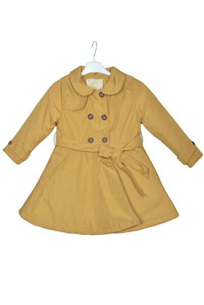 Carino Kız Çocuk  Sarı Trençkot