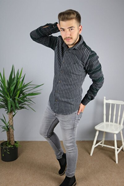 Zoom Erkek Gri Oduncu Gömlek