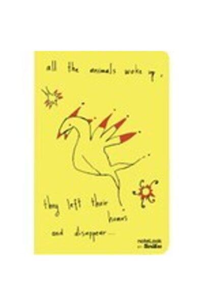 Scrikss Animals Sarı A5 Çizgili Defter