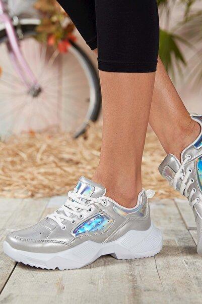 DARK SEER Kadın Gümüş Sneaker DS.MJ1880
