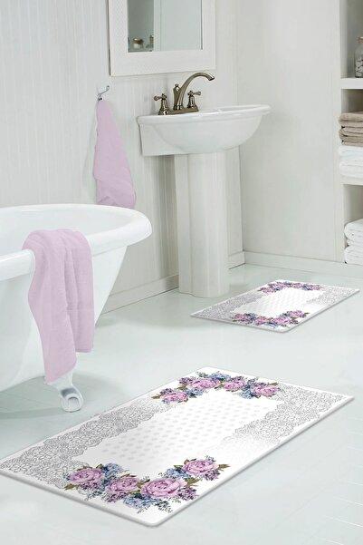 colizon 60x90 - 50x60 Sardes Dijital Banyo Halısı Klozet Takımı 2'li Paspas Seti