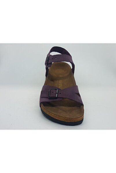 ÇELEMLİ Kadın Mor Deri Sandalet