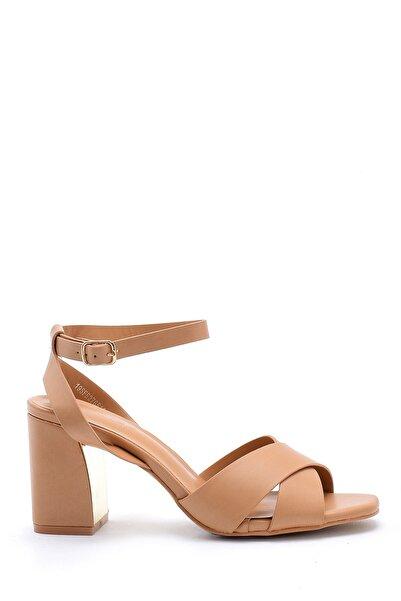 Derimod Kadın Camel Kalın Topuklu Ayakkabı