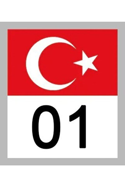Apex 01 Adana Türk Bayrağı Ve Plaka Kodu Ön Cam Sticker Yapıştırma