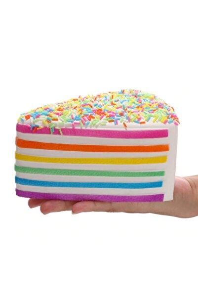 FO Sukuşi Squishy Yumuşak Yavaş Yükselen Oyuncak Renkli Yaş Pasta Dilimi