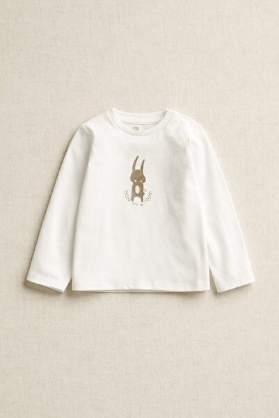 MANGO Baby Bebek Beyaz Tişört