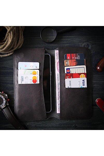 Wowlett Xiaomi Mi Note 10 Lite Gerçek Deri Kartlık Cüzdan Telefon Kılıfı
