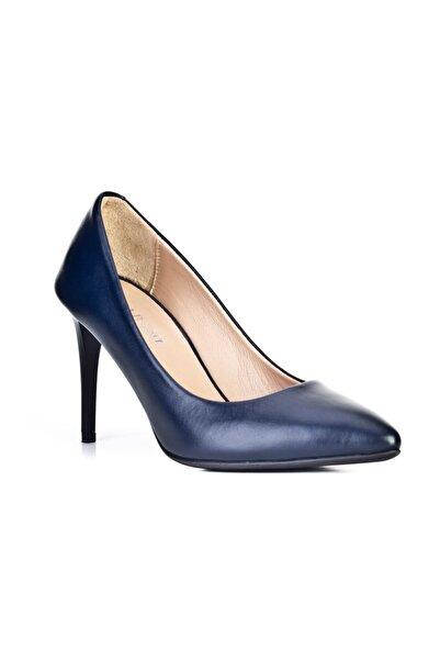 Cabani Stilleto - Kadın Ayakkabı Lacivert Deri
