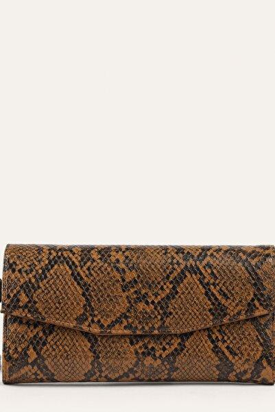 Mudo Kadın Kahverengi Desenli Cüzdan 1221309