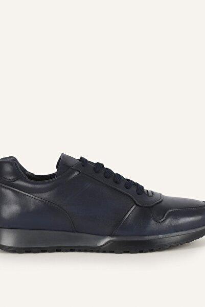 Mudo Erkek Lacivert Bağcıklı Deri Sneaker 1221994