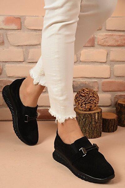 Shoes Time Kadın Siyah Süet Günlük Ayakkabı