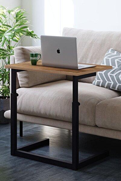 Ceramical Yükseklik Ayarlı Laptop Sehpası, Çalışma Masası, Bilgisayar Masası - Atlantik Çam