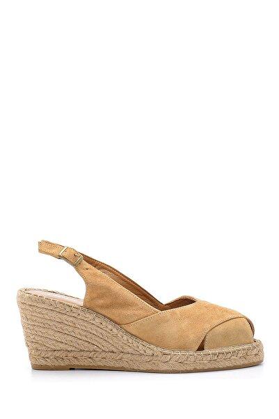 Derimod Kadın Kahverengi  Süet Dolgu Topuklu Ayakkabı