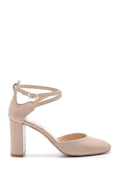 Derimod Kadın Pudra Deri Topuklu Ayakkabı