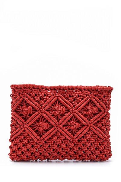 Derimod Kadın Kırmızı Hasır Portföy