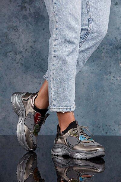 DARK SEER Platin Kadın Sneaker DS.PMD252K2018