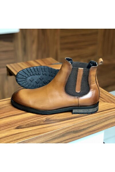 TETRİ Erkek Ayakkabı Taba Deri Bot