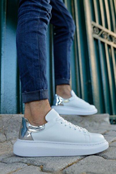 Chekich Ch259 Bt Kadın Ayakkabı Beyaz / Gümüş