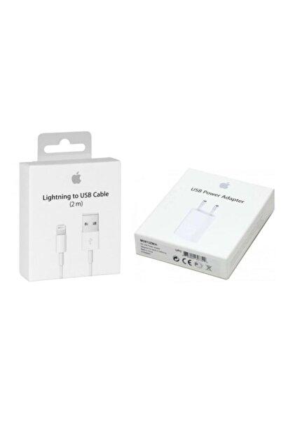 Apple Iphone 2m Kablo ve Adaptör Seti Kutulu