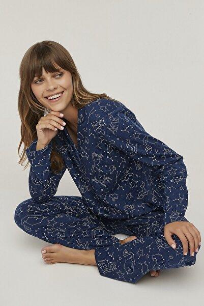 Penti Kadın Lacivert Stars Pijama Takımı