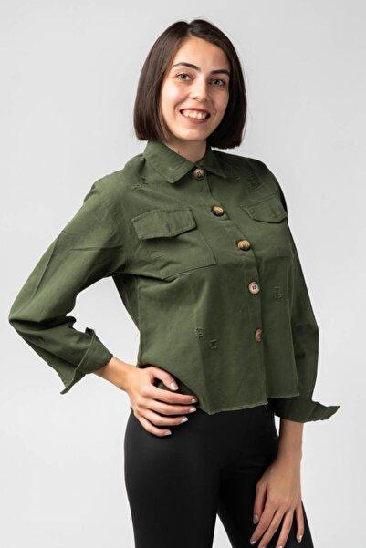 CNS Kadın Yeşil Gömlek