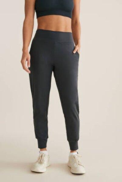 Kadın Gri Comfort Jogger Pantolon