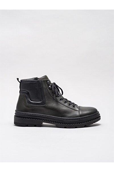 Elle Shoes Haki Deri Erkek Günlük Bot