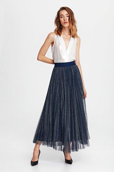 Liu Jo Kadın Beyaz V Yaka Bluz