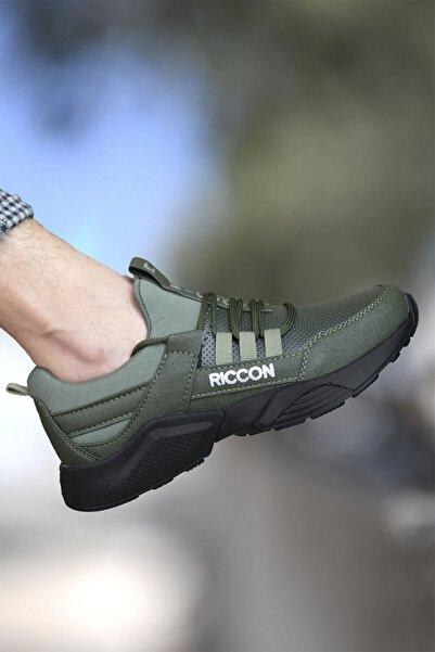 Riccon Çocuk Haki Siyah Cilt  Sneaker 002072