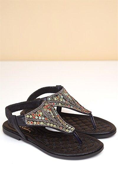 Pierre Cardin Kadın Siyah Günlük Sandalet Pc-6530