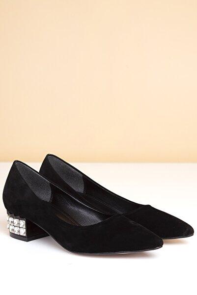 Pierre Cardin Pc-50284 Suet Siyah Kadın Ayakkabı