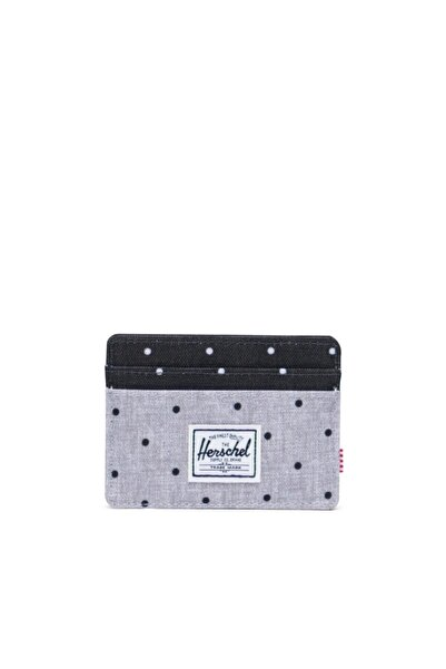 Herschel Supply Co. Herschel Kartlık Charlie Rfıd Polka Dot Crosshatch Grey/black