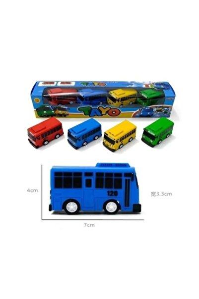 Canda Oyuncak 4 Lü Tayo Otobüs Seti