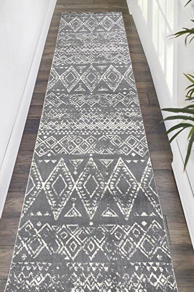 Payidar Halı Moroccan 1495a Gri-beyaz Eni 80cm Kesme Yolluk