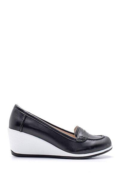 Derimod Kadın Siyah Dolgu Topuklu Ayakkabı