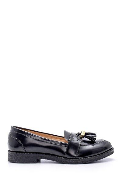 Derimod Kadın Siyah Püskül Detaylı Loafer Ayakkabı