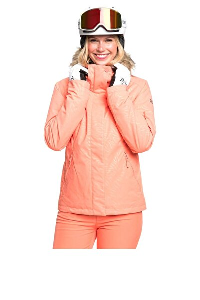 Roxy Kadın Turuncu Snowboard Ceketi Erjtj03266-mhf2