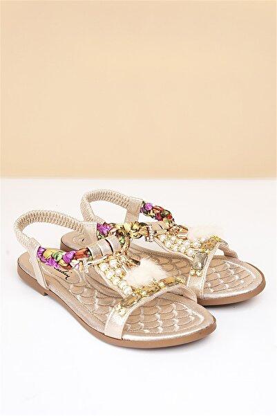 Pierre Cardin Kadın Altın Günlük Sandalet Pc-6521