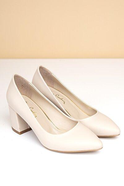 Pierre Cardin Kadın Bej Topuklu Ayakkabı  Pc-50176