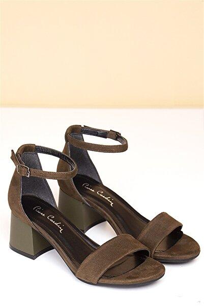 Pierre Cardin Pc-50172 Haki Suet Kadın Ayakkabı