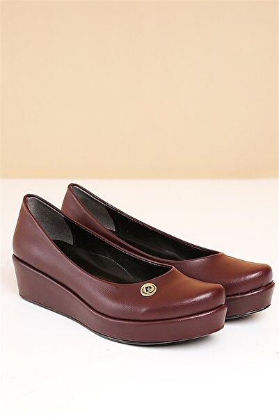 Pierre Cardin Pc-50086 Bordo Kadın Ayakkabı