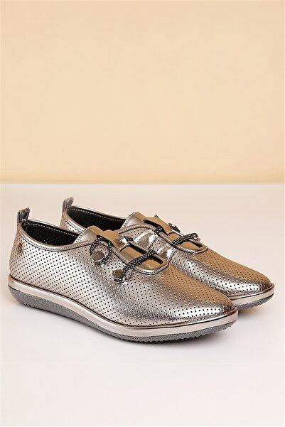 Pierre Cardin Kadın Gümüş Günlük Ayakkabı  Pc-50093