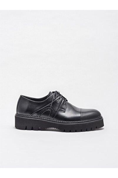 Elle Shoes Erkek Siyah Deri Klasik Ayakkabı
