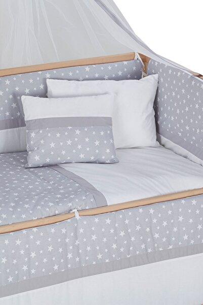 Babycom 60*120 Gri Yıldızlı Uyku Seti
