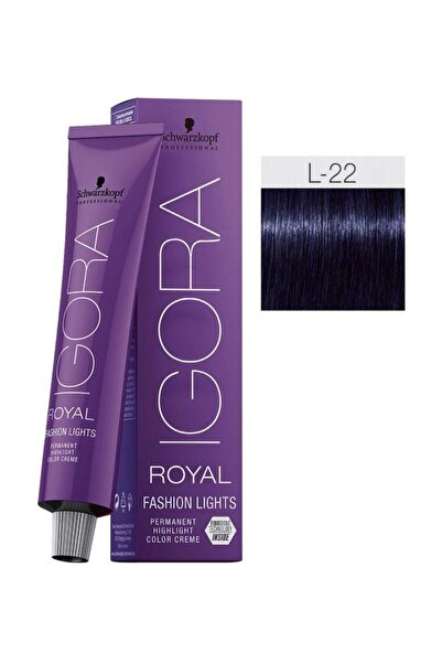 SCHWARZKOPF HAIR MASCARA Igora Royal Fashion Lights L-22 Yoğun Küllü (oksidansız)