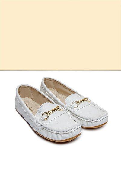 Pierre Cardin Kadın Beyaz Babet Pc-50696 - 3414-19