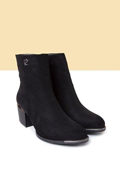Pierre Cardin Kadın Siyah Süet Topuklu Bot Pc-50575 - 3165-50